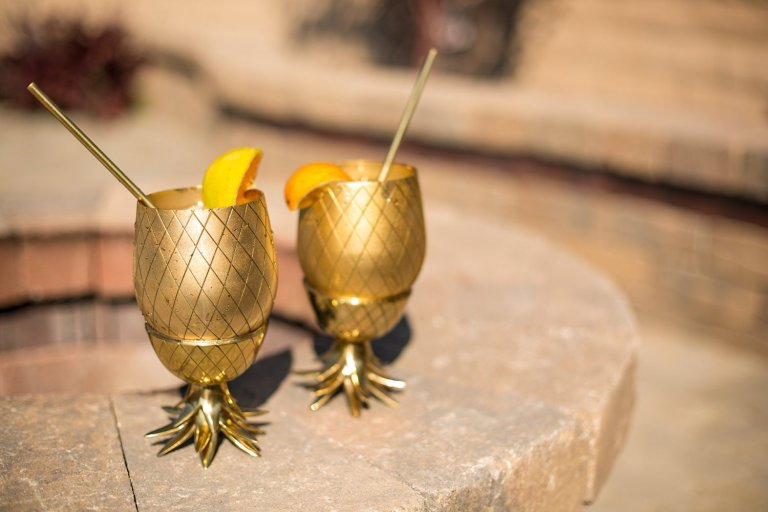 brass pinapple dcocktail cups