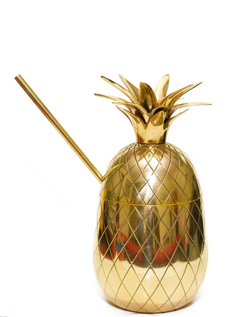 Brass Pineapple Moscow Mule Mug