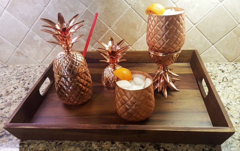 100% Copper Pineapple Mug - (24 oz)