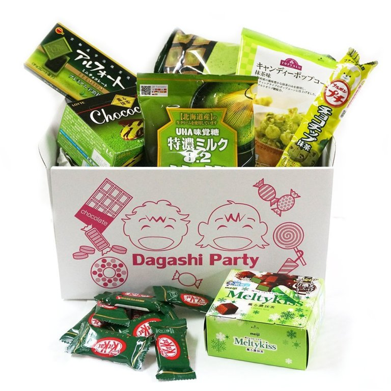 "Assorted Japanese Maccha Green Tea Flavor Junk Food Snacks ""Dagashi"" Party Gift Variety Bulk"